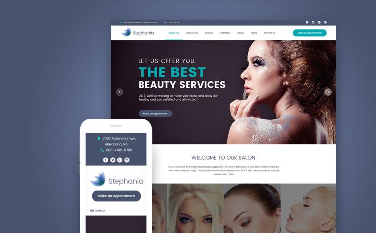 Tema de WordPress #62366 para Sitio de Salones de belleza