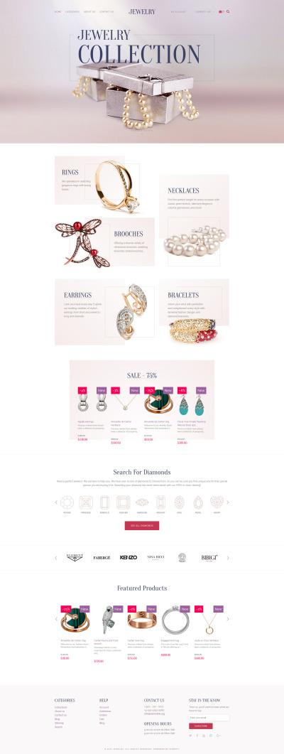 Responsive Tema Shopify #62323 para Sitio de  para Sitio de Joyería