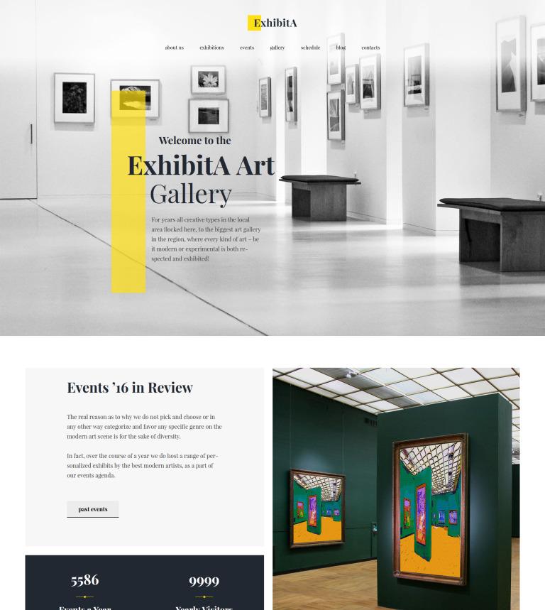 Tema WordPress #62373 per Un Sito di Galleria d\'Arte