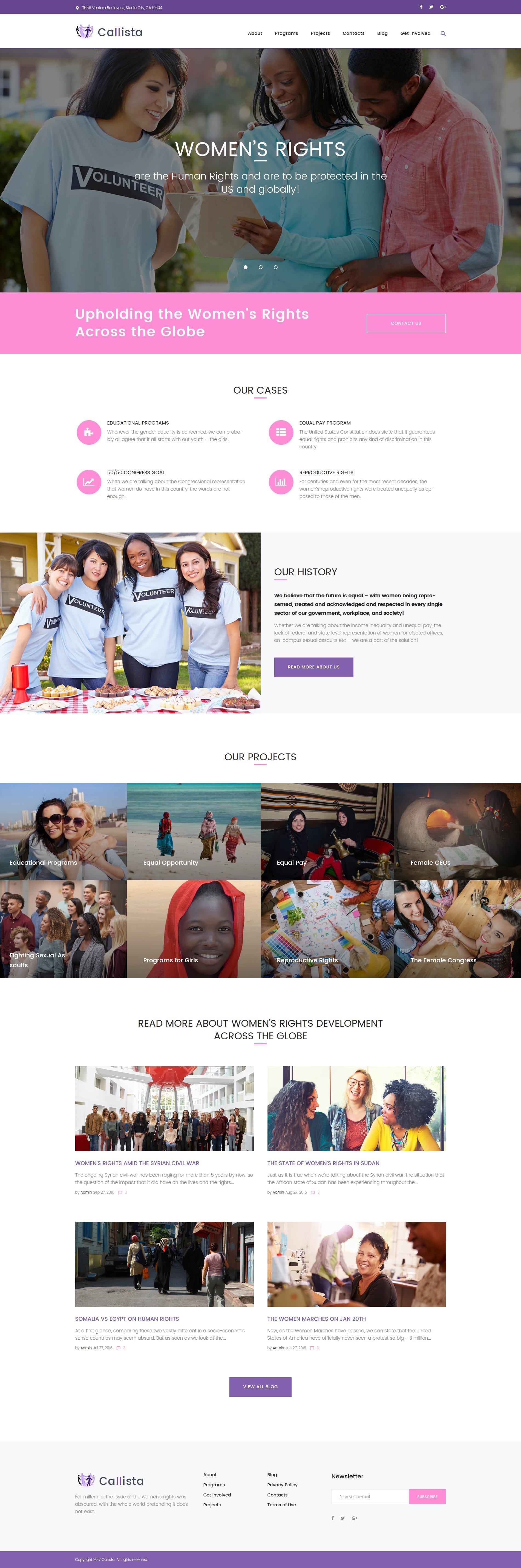 "Template WordPress Responsive #62359 ""Callista - Charity & Fundraising"""