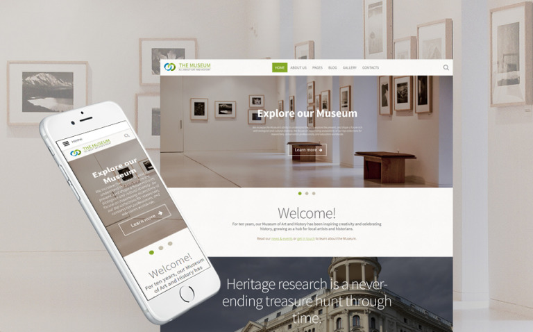 The Museum - Art & History Museum Responsive Joomla Template New Screenshots BIG