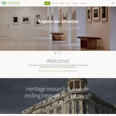 museum templates templatemonster