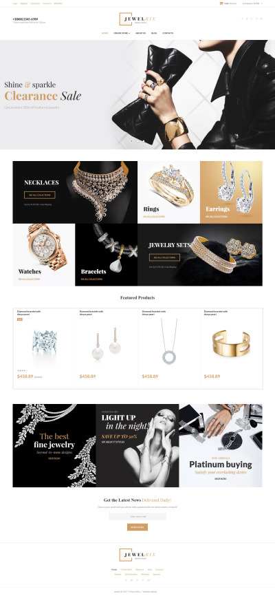 "VirtueMart шаблон ""Jewelrix - Jewelry Collection"" #62374"