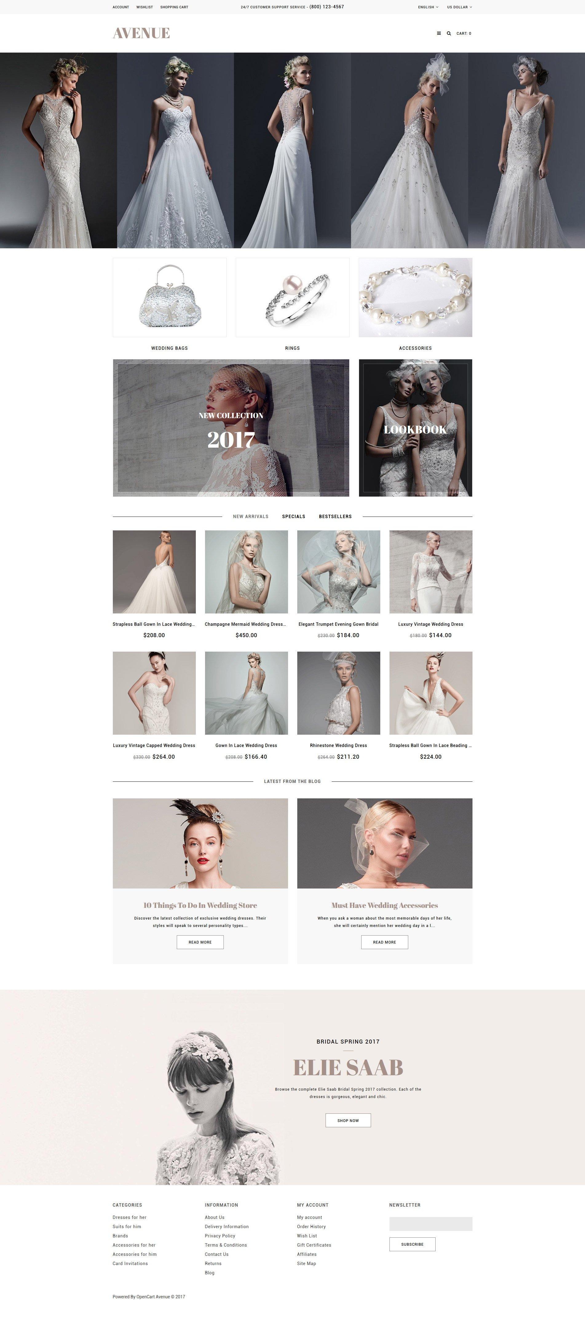 Wedding Responsive OpenCart Template - screenshot