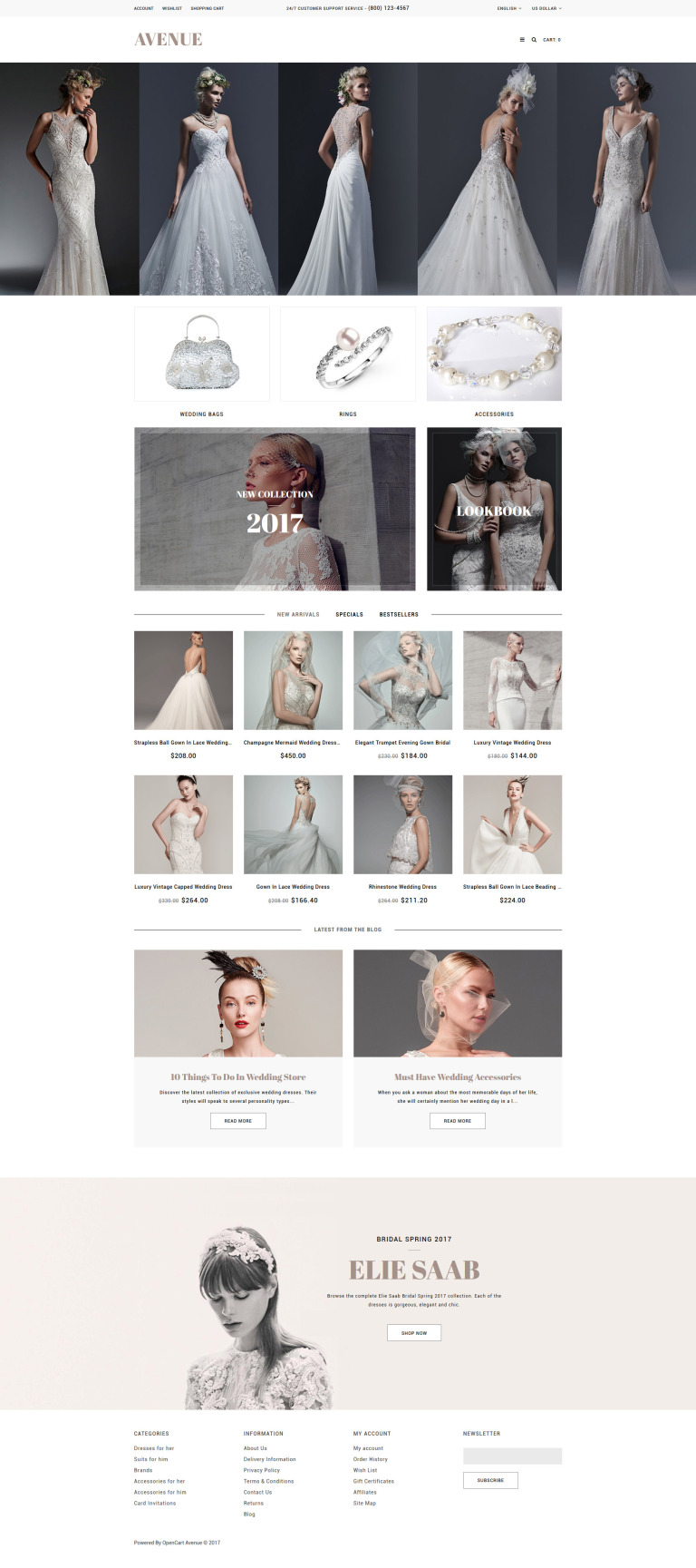 Wedding Responsive OpenCart Template New Screenshots BIG