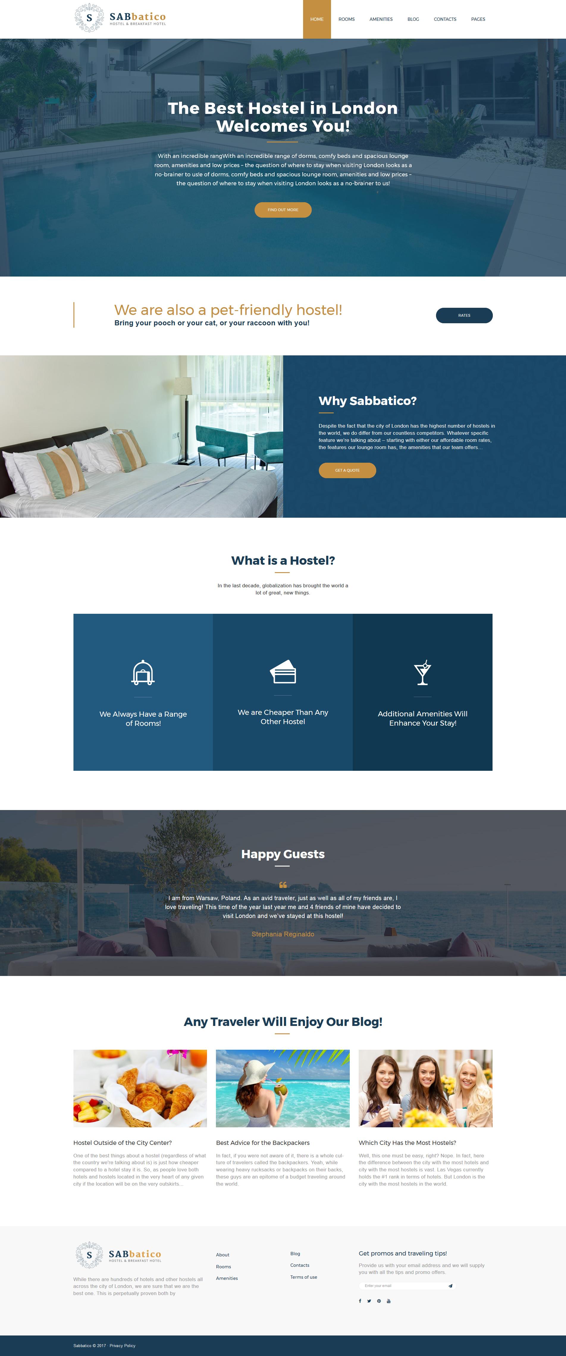 Шаблон SabBatico для сайта гостиницы #62377