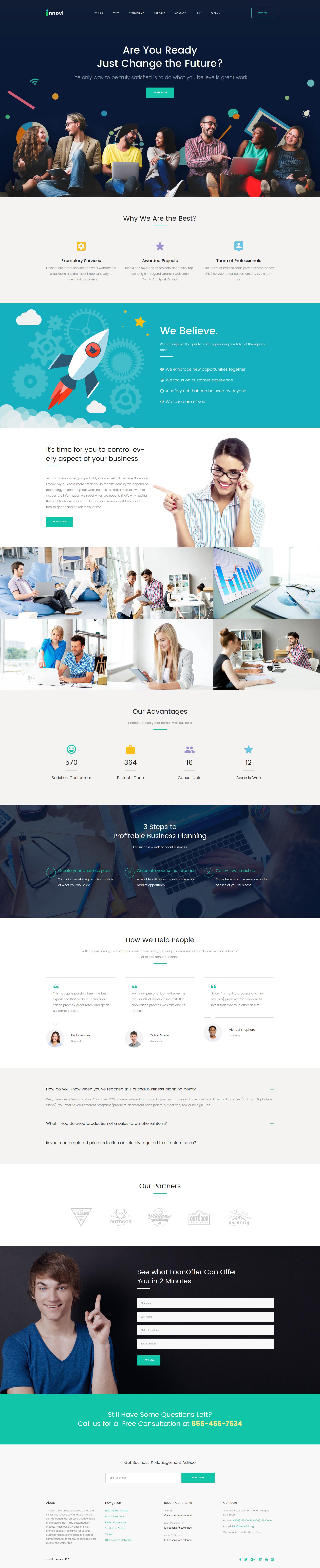 "WordPress Theme namens ""Startup & Kreative Digitalagentur"" #62355 - Screenshot"