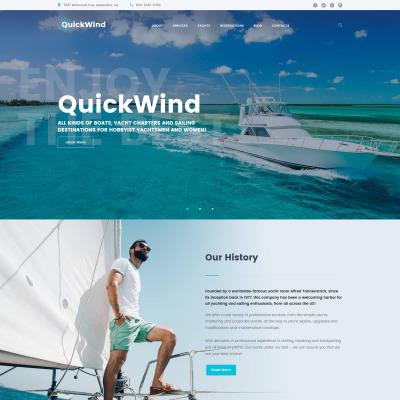 Thème WordPress adaptatif  pour site de yachting