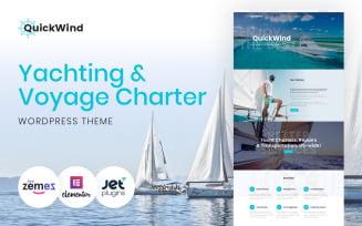 Yachting & Voyage Charter WordPress Theme - QuickWind WordPress Theme