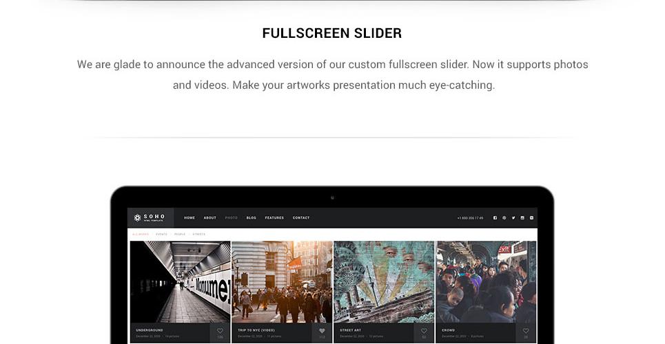 Website Design Template 62408 - art gallery digital cameras company models