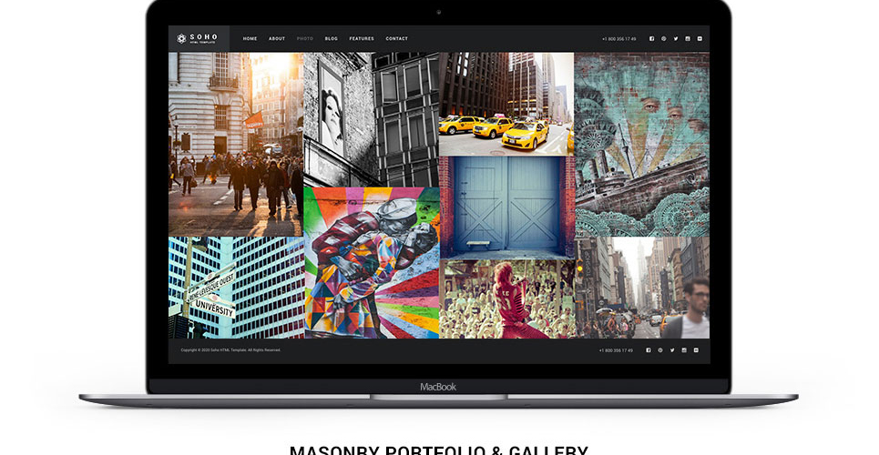Website Design Template 62408 - pictures art gallery digital cameras company models