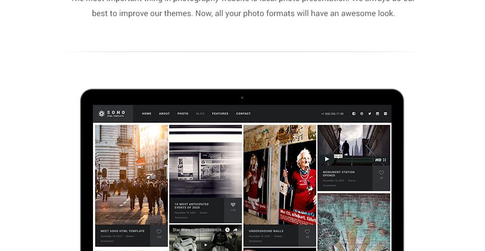 Website Design Template 62408 - digital cameras company models