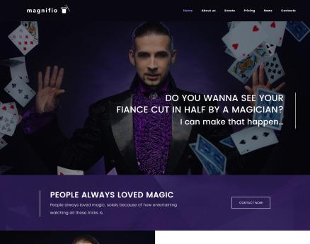 Magician Artist & Performer WordPress Theme