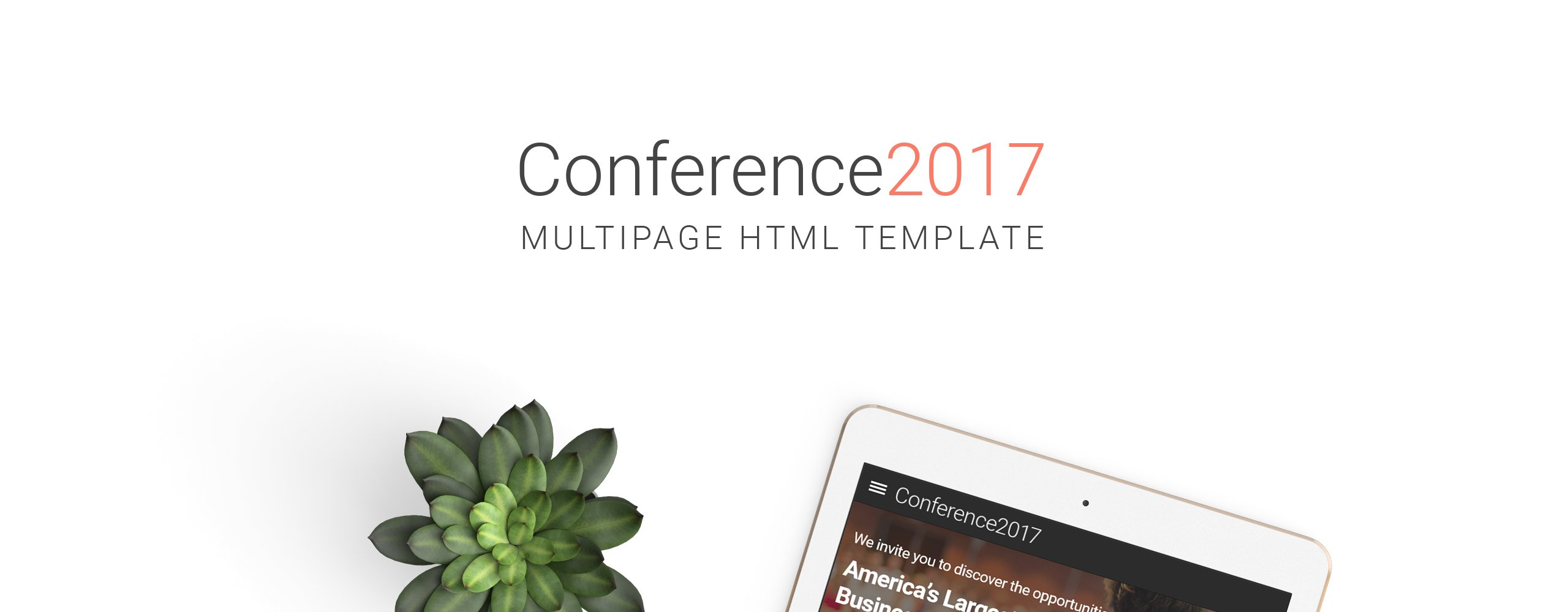 Conference2017- Business Technology Events Responsive Multipage Website Template