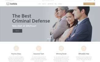 Justizia - Lawyer Services Responsive WordPress Theme