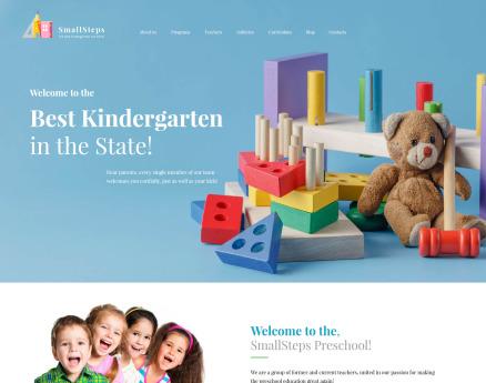 SmallSteps - Kindergarten Responsive WordPress Theme