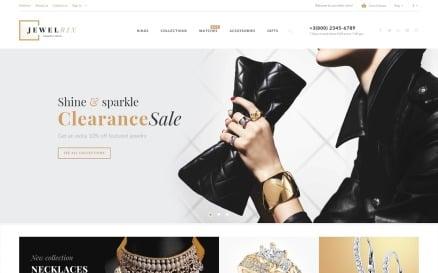 Jewelrix - Jewelry Store Website Template PrestaShop Theme