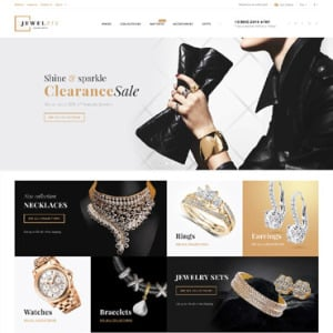 Screenshot of Jewelrix Jewelry Store Online Shop
