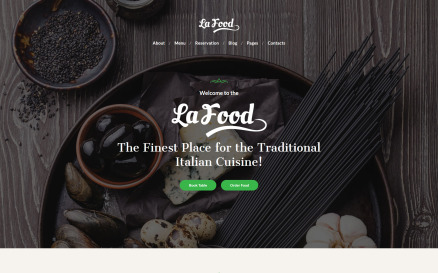 La Food - Italian Restaurant Responsive WordPress Theme