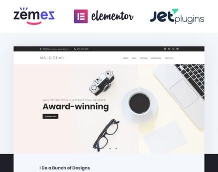 Personal Web Designer Portfolio WordPress Theme