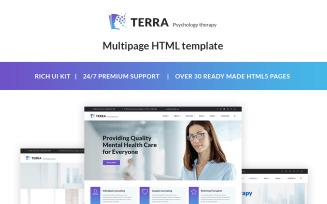 Terra - Psychologist Responsive Website Template