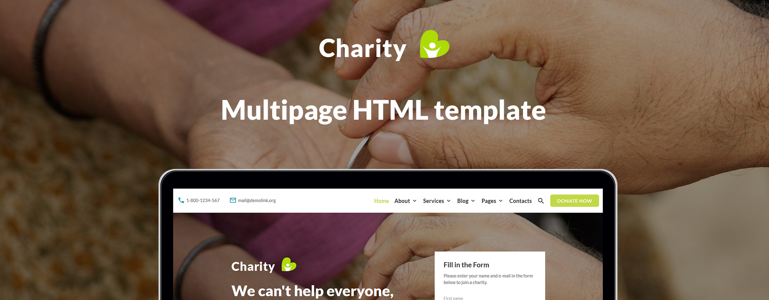 Charity HTML Website Template
