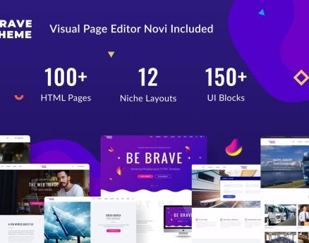 Brave Theme - Multipurpose HTML Website Template
