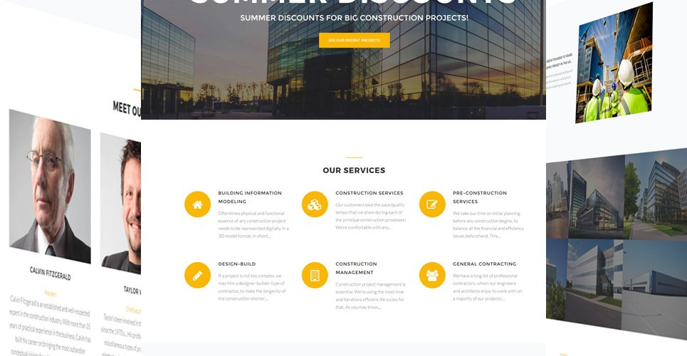 Website Design Template 62481 - renovation roofing electrician plumbing maintenance industrial business corporate professional