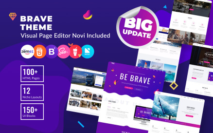 Brave Theme - Multipurpose HTML Website Template