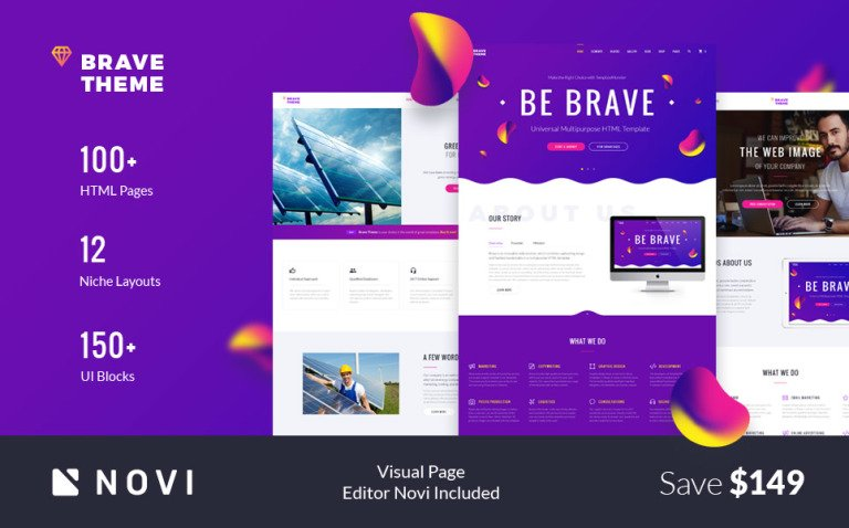 Brave Theme - Multipurpose HTML Website Template New Screenshots BIG
