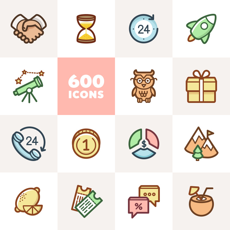 """""""Capitalist Flat Icons Collection"""" 图标集模板 #62492"""