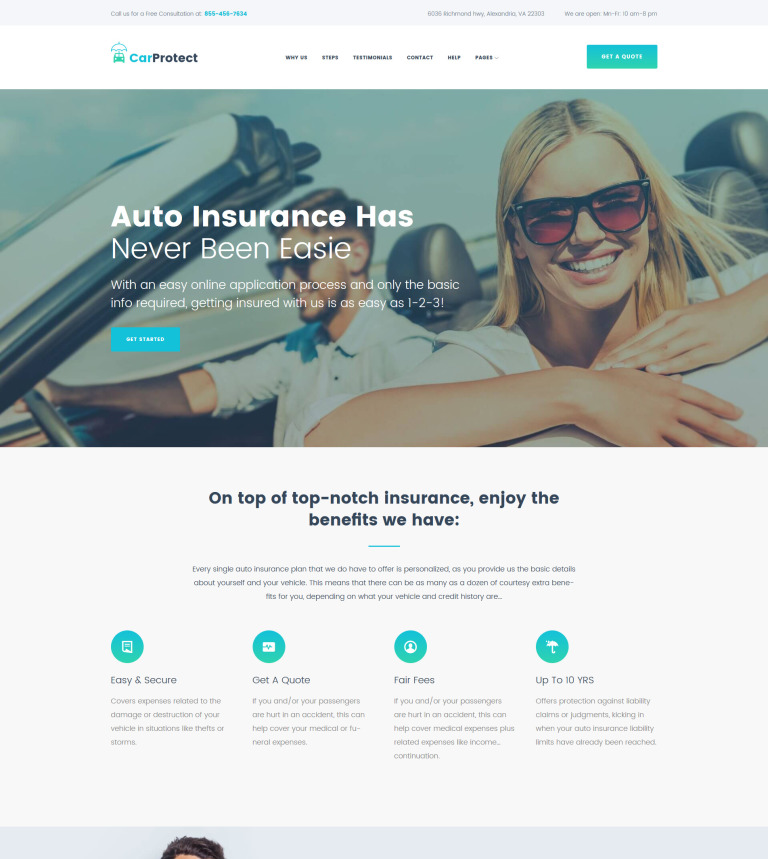 Car Protect - Auto Insurance WordPress Theme