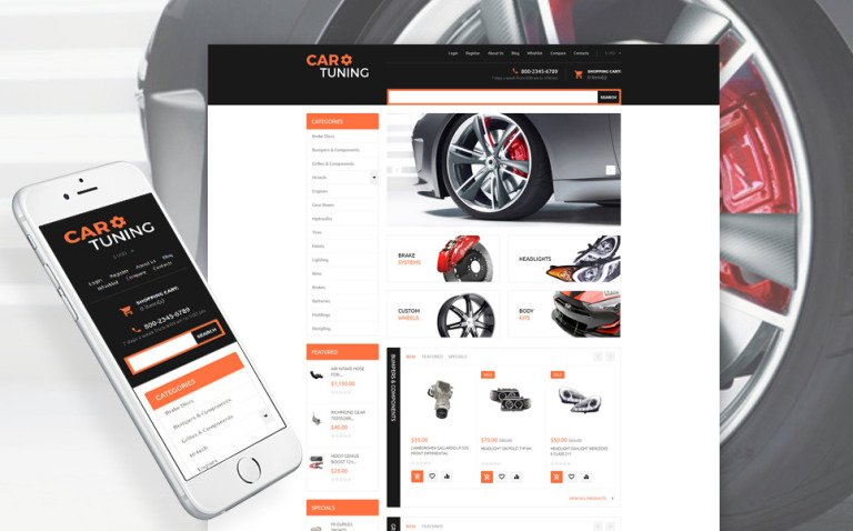 Car Tuning Responsive VirtueMart Template New Screenshots BIG