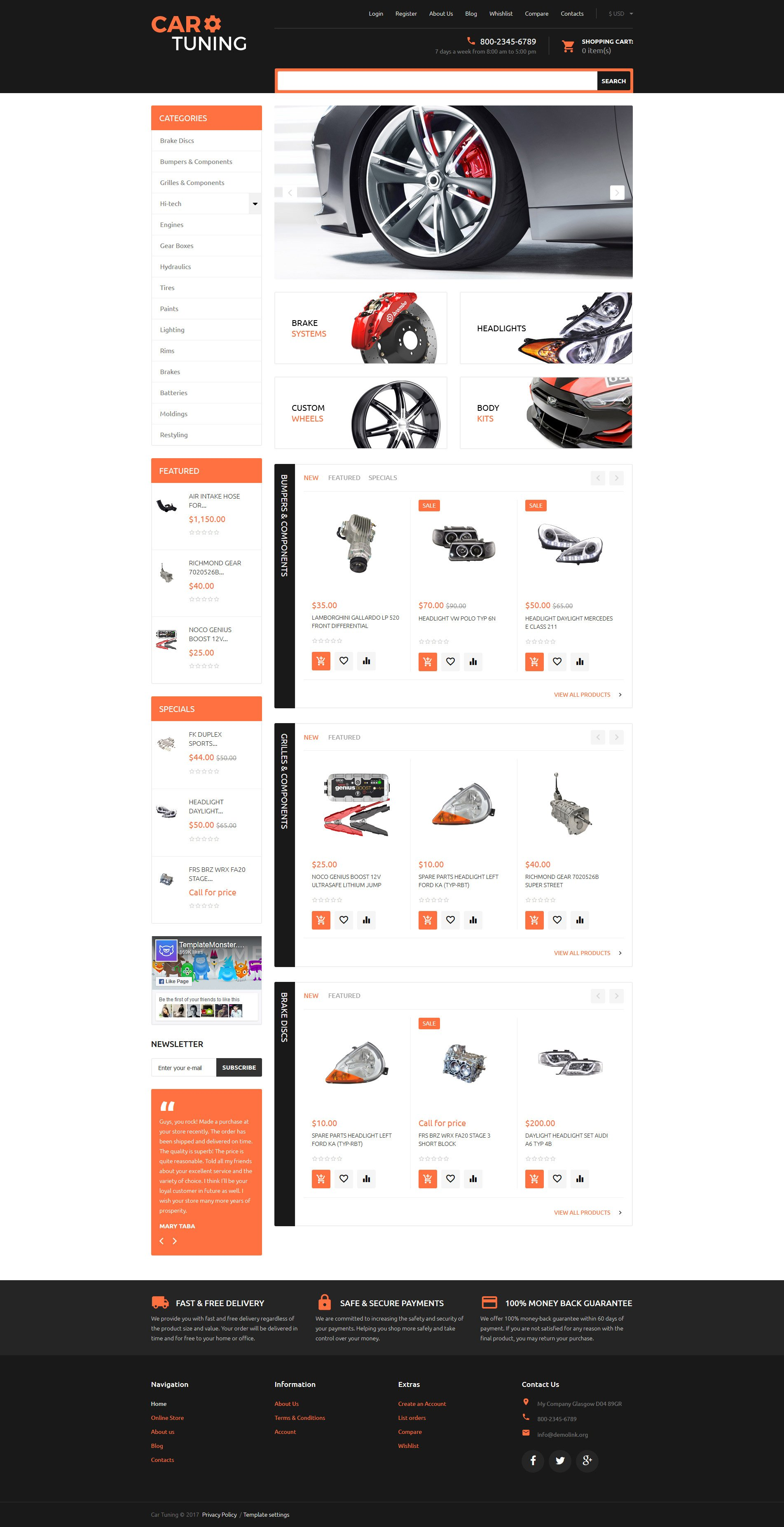 Car Tuning VirtueMart Template