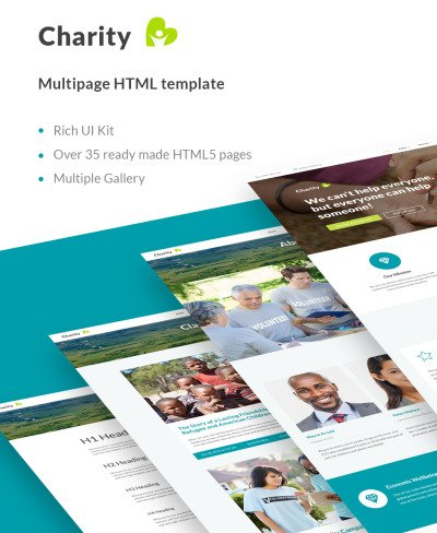 Charity HTML Website Template #62462