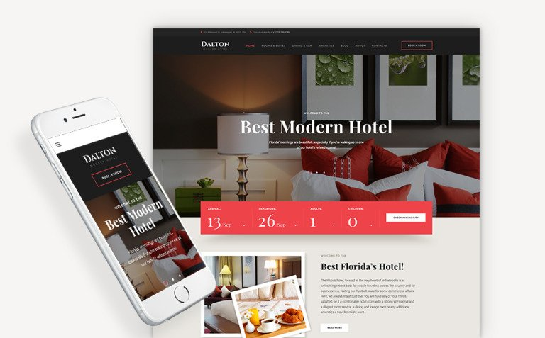 Dalton - Modern Hotel & Resort WordPress Theme New Screenshots BIG