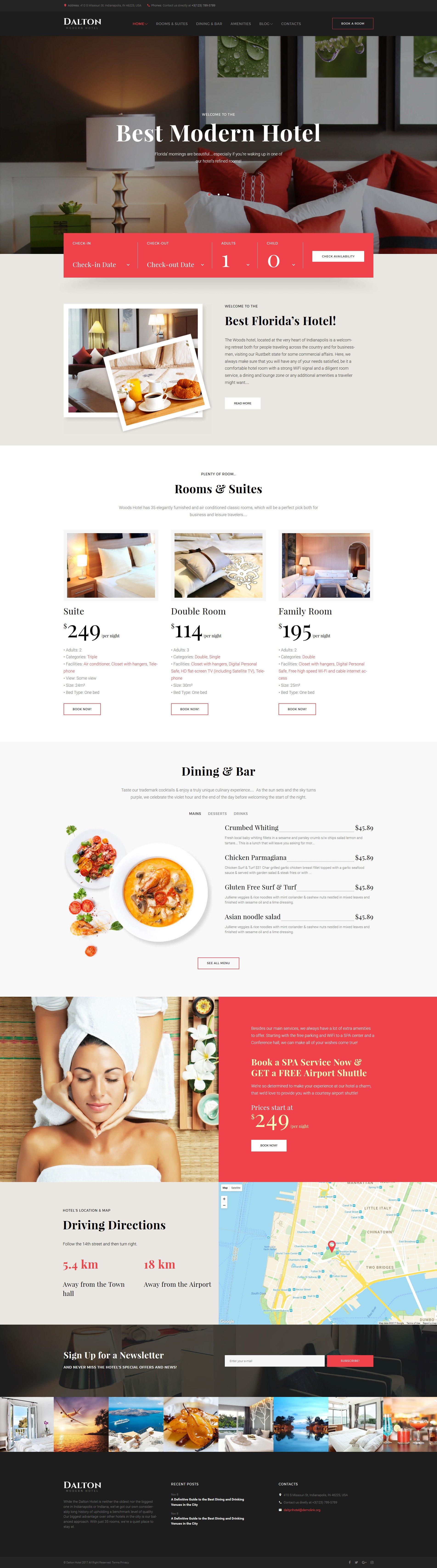 Dalton - Modern Hotel & Resort WordPress Theme - screenshot