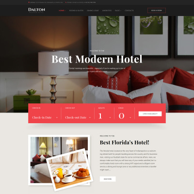 Website templates web templates template monster for Hotel booking design