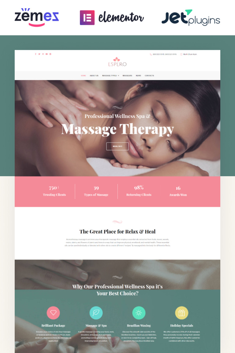 Espero - Massage Salon Responsive WordPress Theme New Screenshots BIG