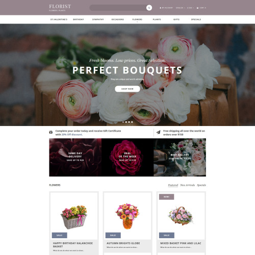 Florist - OpenCart Template based on Bootstrap