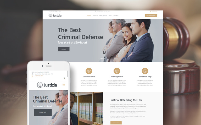 Justizia - Lawyer Services Responsive WordPress Theme New Screenshots BIG