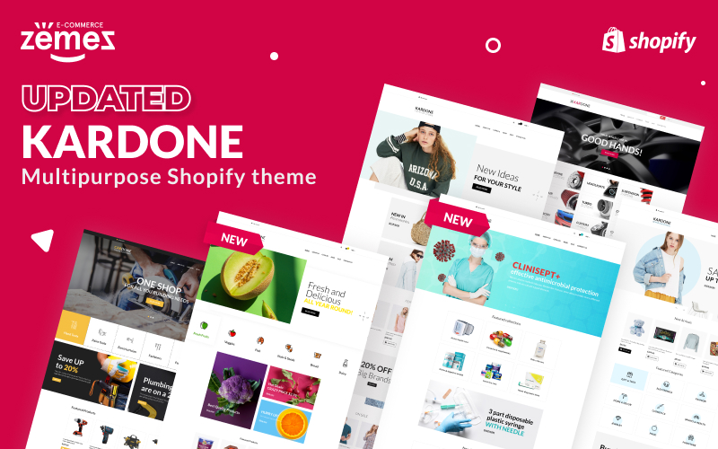 """Kardone - Multipurpose Theme"" 响应式Shopify模板 #62439"