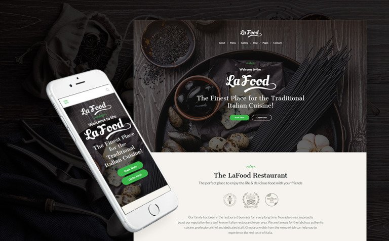 La Food - Italian Restaurant Responsive WordPress Theme New Screenshots BIG
