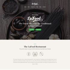 Restaurant Of Italian Food WordPress Theme - Restaurant template wordpress