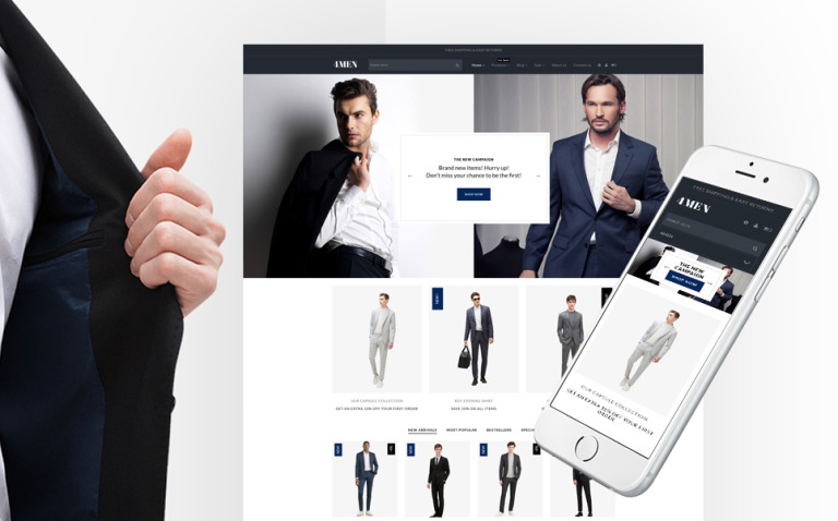 4Men - Men's Fashion Shopify Theme New Screenshots BIG