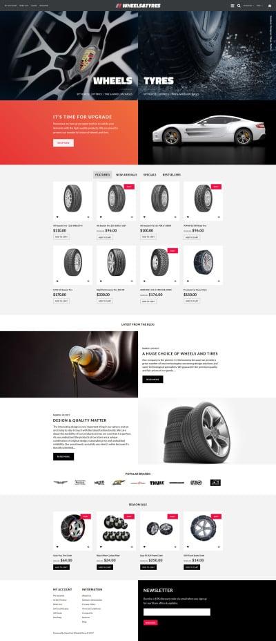 Wheels & Tires Responsive Tema OpenCart
