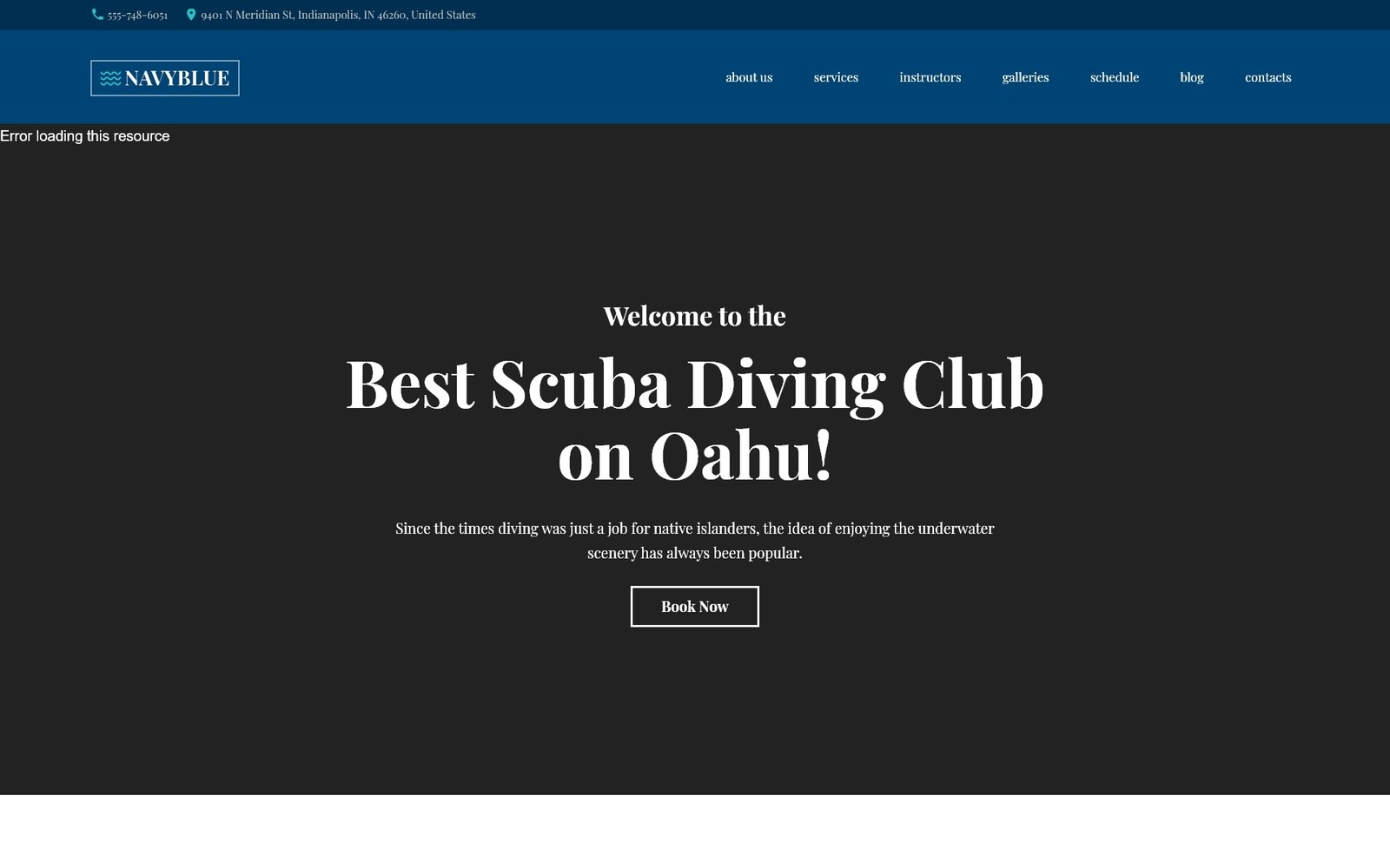"""NavyBlue - Scuba Diving Club Responsive"" - адаптивний WordPress шаблон №62484"