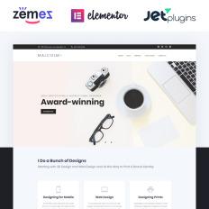 29 best web design wordpress themes 2018 templatemonster personal web designer portfolio parallax wordpress template maxwellsz