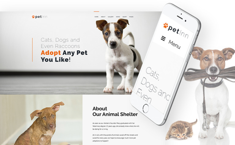 PetInn - Animal Shelter Responsive WordPress Theme