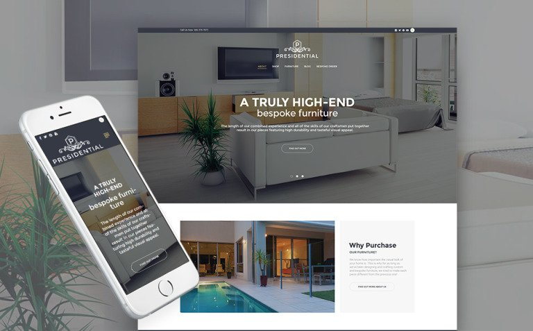 Presidential - Home Decor & Furniture WordPress Theme New Screenshots BIG